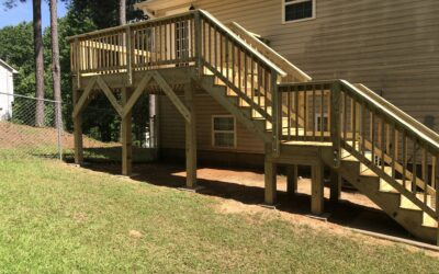 Front porch and back deck